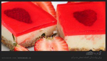 چگونه چیزکیک توت فرنگی یخچالی درست کنیم - ویکی ووک