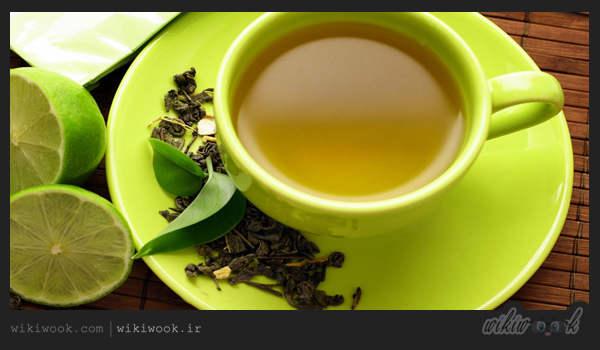 چگونه چای سبز خوش رنگ و معطر درست کنیم - ویکی ووک