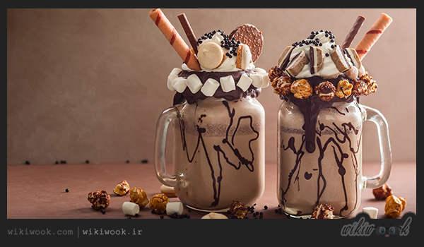 طرز تهیه شیک موز و شکلات خوشمزه - ویکی ووک