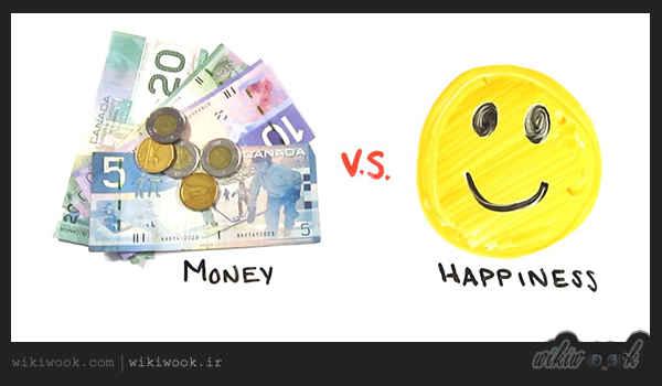متن کوتاه انگلیسی درباره رابطه پول و خوشبختی / ویکی ووک