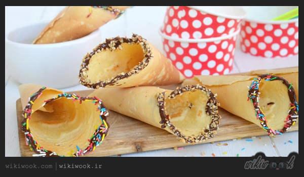 نان بستنی را چگونه در منزل درست کنیم - ویکی ووک