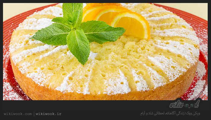 کیک پرتقالی با سس پرتقال و طرز تهیه آن / ویکی ووک
