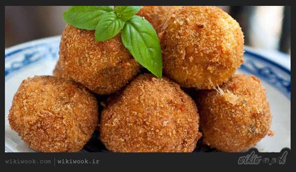 توپک مرغ و پوره سیب زمینی یک شام عالی - ویکی ووک